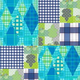 Patchwork seamless pattern checkered plaid background Stock Photo