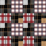 Patchwork seamless pattern checkered plaid background Royalty Free Stock Image