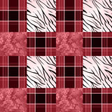 Patchwork seamless pattern checkered plaid background Royalty Free Stock Photos