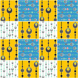Patchwork seamless pattern circles background Royalty Free Stock Images