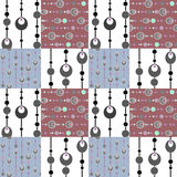 Patchwork seamless pattern circles background Stock Images