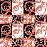 Patchwork seamless pattern circles ornamental Stock Images