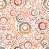 Patchwork seamless pattern circles ornamental Royalty Free Stock Photography