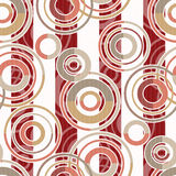 Patchwork seamless pattern circles on striped background Royalty Free Stock Image