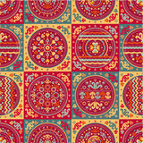 Patchwork Seamless pattern. Ethnic geometric print. Wallpaper, pattern fills, web page background, surface textures. Wrapping. Festive packaging. Geometric Stock Image
