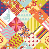 Patchwork seamless pattern Stock Photography