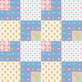 Patchwork seamless pattern geometric background Stock Images