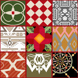 Patchwork seamless pattern geometric elements background Royalty Free Stock Photos