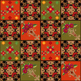 Patchwork seamless pattern geometric elements background Royalty Free Stock Images