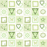 Patchwork seamless pattern with geometric elements background Stock Photo