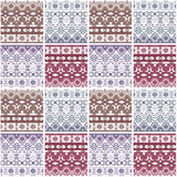 Patchwork seamless pattern with geometric elements background Royalty Free Stock Photography