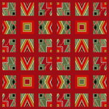Patchwork seamless pattern with geometric elements retro colors Stock Photography