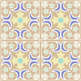Patchwork seamless pattern with geometric elements retro pastel Royalty Free Stock Photos