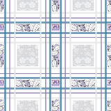 Patchwork seamless pattern geometrical design background Royalty Free Stock Photography