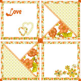 Patchwork seamless pattern hearts and flowers texture Royalty Free Stock Images