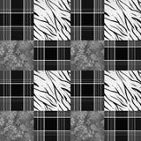 Patchwork seamless pattern monochrome background Stock Image