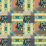 Patchwork seamless pattern ornament background Royalty Free Stock Image