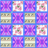 Patchwork seamless pattern ornament background Stock Images