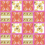 Patchwork seamless pattern ornament background Stock Photography