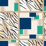Patchwork seamless pattern ornament background Royalty Free Stock Photography