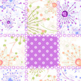 Patchwork seamless pattern ornament design background Royalty Free Stock Images