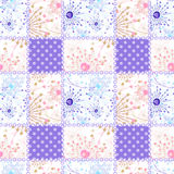 Patchwork seamless pattern ornament design background Royalty Free Stock Photo