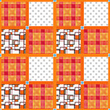 Patchwork seamless pattern ornament design background Stock Images
