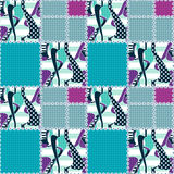Patchwork seamless pattern ornament design background Royalty Free Stock Photos
