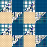 Patchwork seamless pattern ornament design background Stock Photography