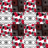 Patchwork seamless pattern ornament floral background Royalty Free Stock Image