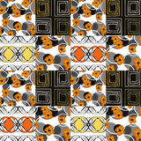 Patchwork seamless pattern ornament floral background Stock Photography