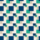 Patchwork seamless pattern ornament geometrical background Stock Image