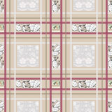 Patchwork seamless pattern ornament geometrical design backgroun Royalty Free Stock Photo