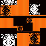 Patchwork seamless pattern ornament ornamental background Stock Image