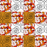 Patchwork seamless pattern ornament retro design background Royalty Free Stock Photography