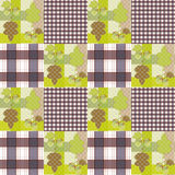 Patchwork seamless pattern ornament striped autumn background Stock Image