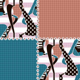 Patchwork seamless pattern ornament striped background Royalty Free Stock Images