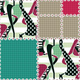 Patchwork seamless pattern ornament striped background Royalty Free Stock Photography
