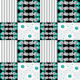 Patchwork seamless pattern ornament striped background Stock Photography