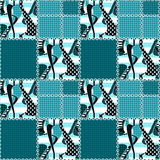 Patchwork seamless pattern ornament striped design background Royalty Free Stock Image