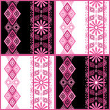 Patchwork seamless pattern with ornaments Royalty Free Stock Photos