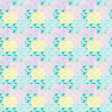 Patchwork seamless pattern pastel colors Stock Photography