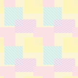 Patchwork seamless pattern pastel colors Royalty Free Stock Images