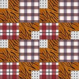 Patchwork seamless pattern plaid checkered background Stock Photo