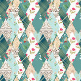 Patchwork seamless pattern texture background Stock Images