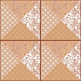 Patchwork seamless  pattern texture background. Patchwork seamless floral pattern texture beige white  background Royalty Free Stock Photography