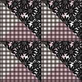 Patchwork seamless  pattern texture background. Patchwork seamless floral pattern texture black white  background Royalty Free Stock Images