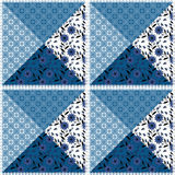 Patchwork seamless  pattern texture background. Patchwork seamless floral pattern texture  light blue  white  background Royalty Free Stock Photo