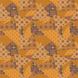 Patchwork seamless pattern texture brown, orange background Stock Photography