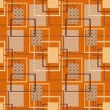 Patchwork seamless pattern texture brown, orange background Stock Photos